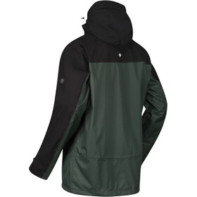 Regatta Highton Stretch Chaqueta Impermeable Hombre, deep forest/black